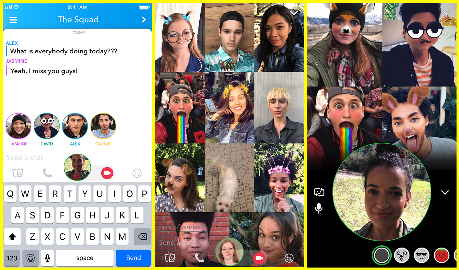 , New Mentions and Group Video Chat Features Announced to Add More to Snapchat