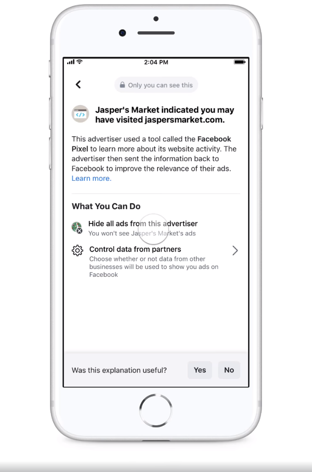 , Facebook lets users control their ad preferences