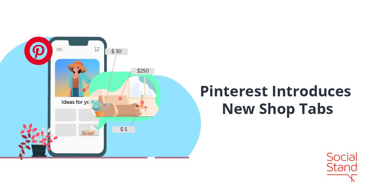 Pinterest Shop Tabs