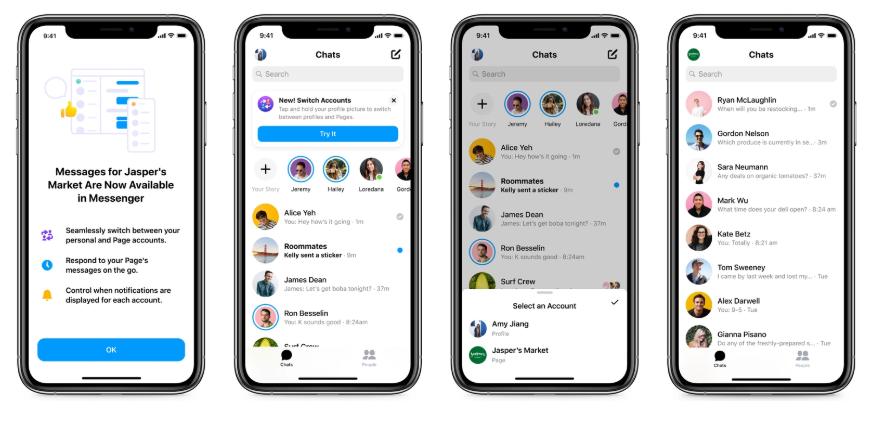 Facebook Adds Page Inbox in Messenger