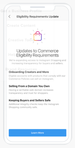 Instagram Adopts New Commerce Eligibility Requirements