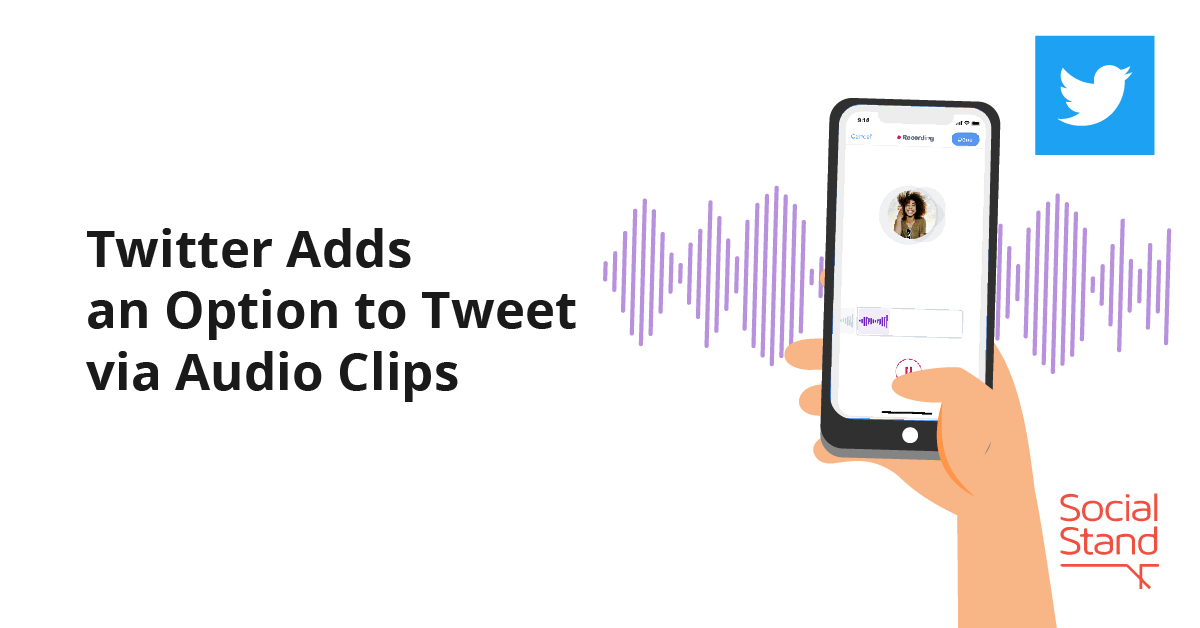 Twitter Adds an Option to Tweet via Audio Clips