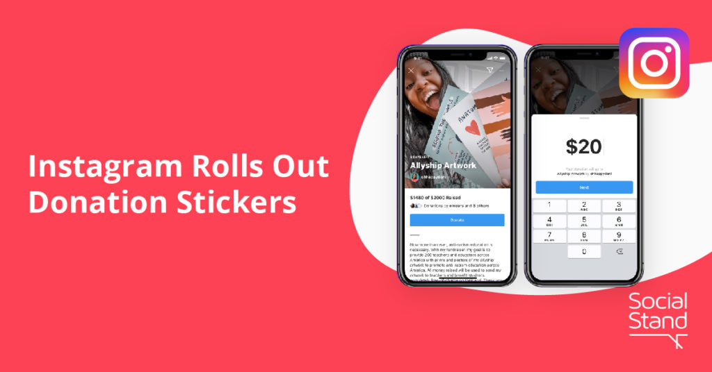 , Instagram Rolls Out Donation Stickers