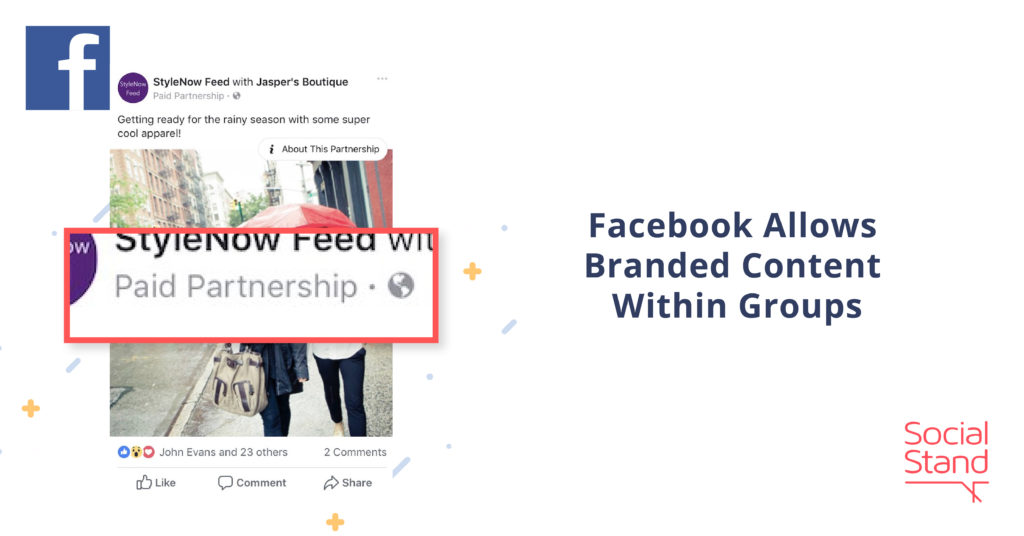 Facebook Allows Branded Content Within Groups