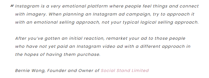 , Bernie Wong on the Perfect Instagram Advertising Campaign
