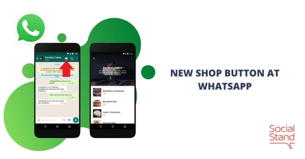 New Shop Button at WhatsApp