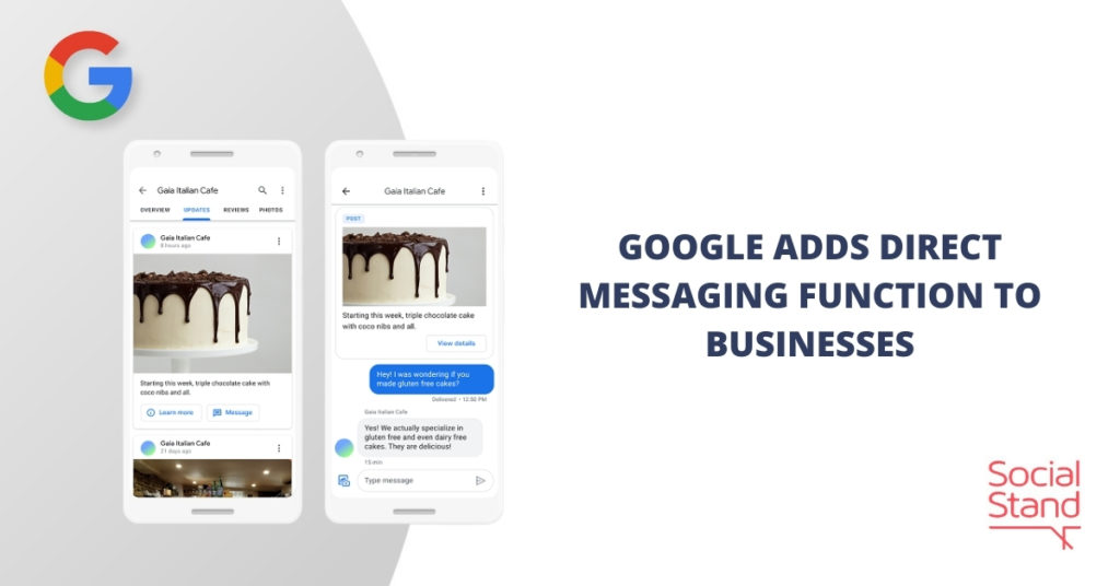 Google Adds Direct Messaging Function to Businesses