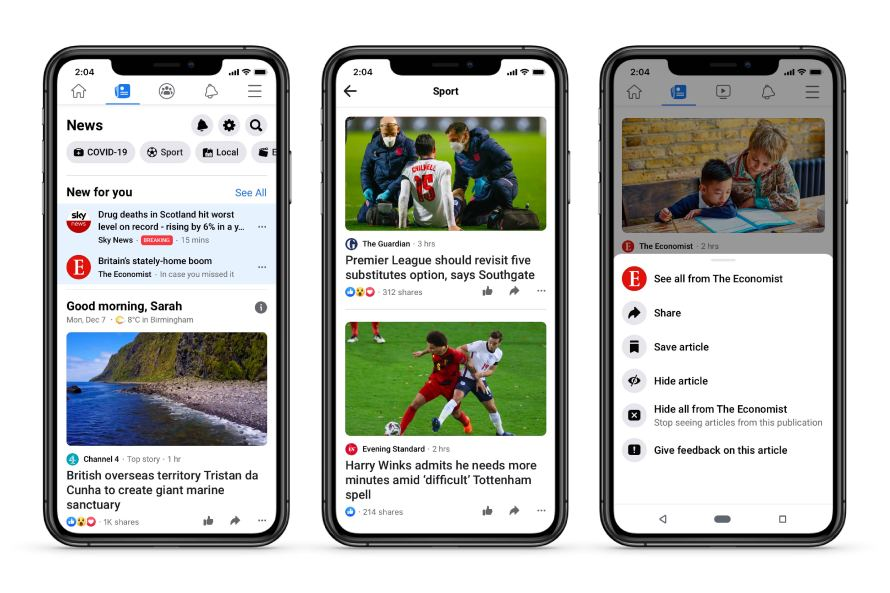 Facebook Officially Launches Facebook News in the UK