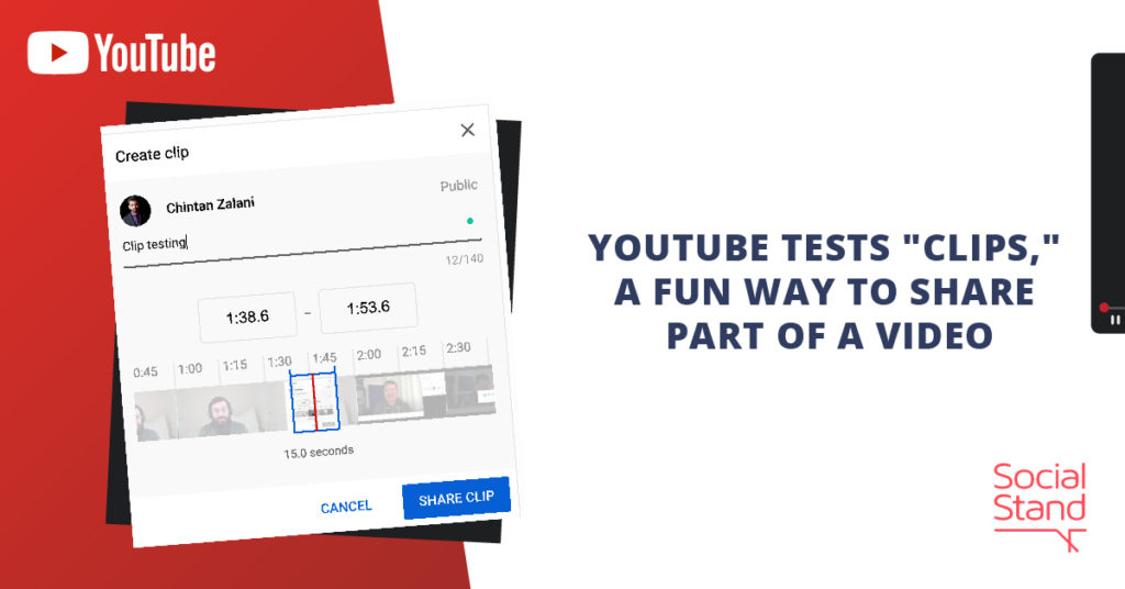 """YouTube Tests """"Clips,"""" a Fun Way to Share Part of a Video"""