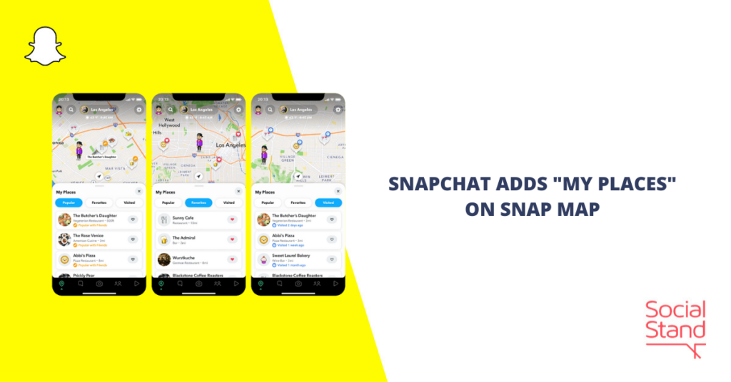 """Snapchat Adds """"My Places"""" on Snap Map"""