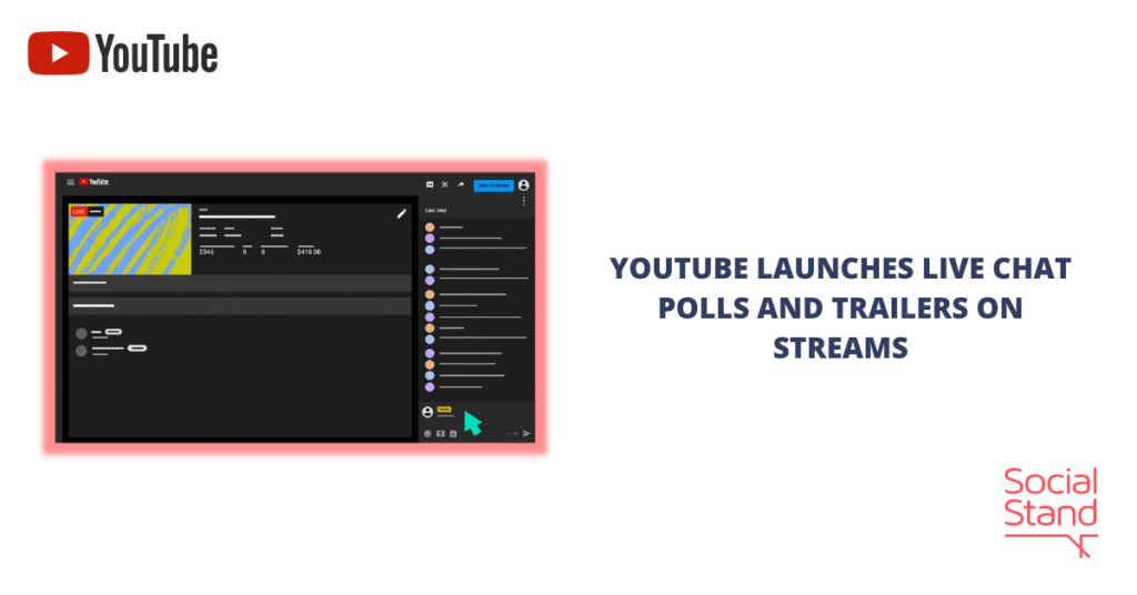 YouTube Launches Live Chat Polls and Trailers on Streams