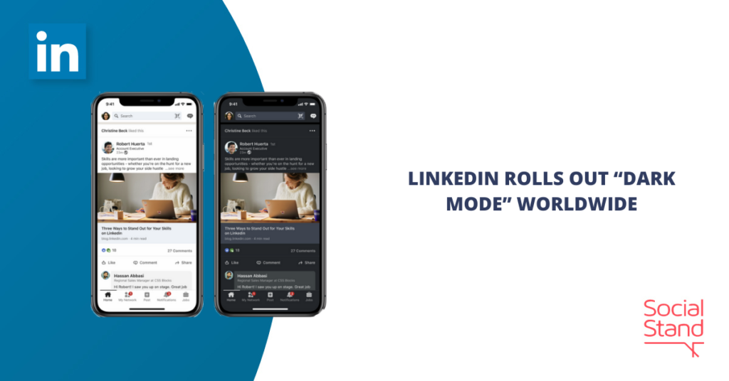"LinkedIn Rolls Out ""Dark Mode"" Worldwide"