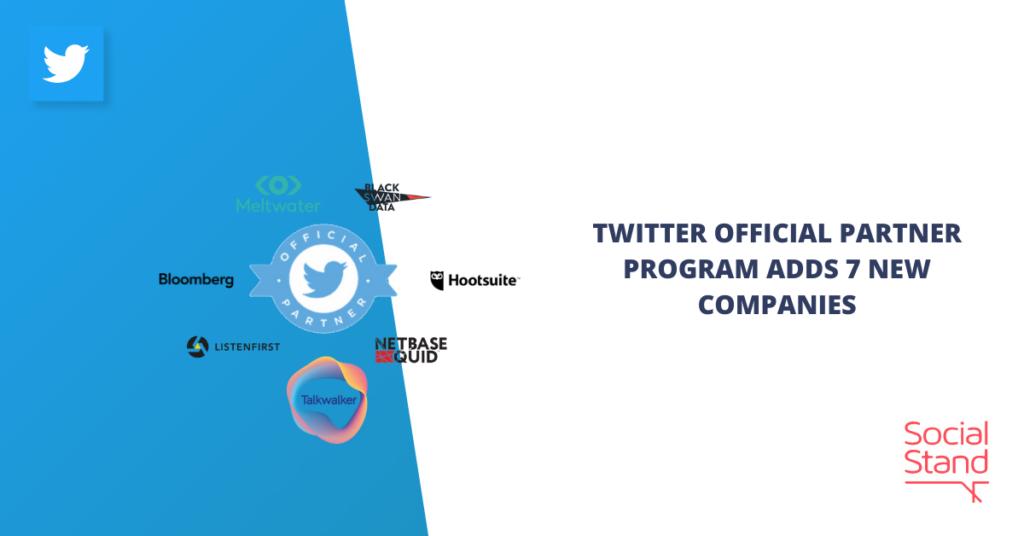 Twitter Official Partner Program Adds 7 New Companies